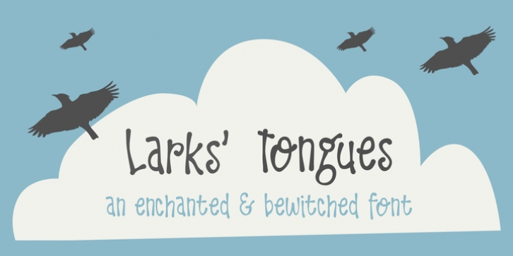 Larks Tongues font preview