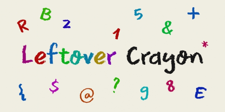 Leftover Crayon font preview