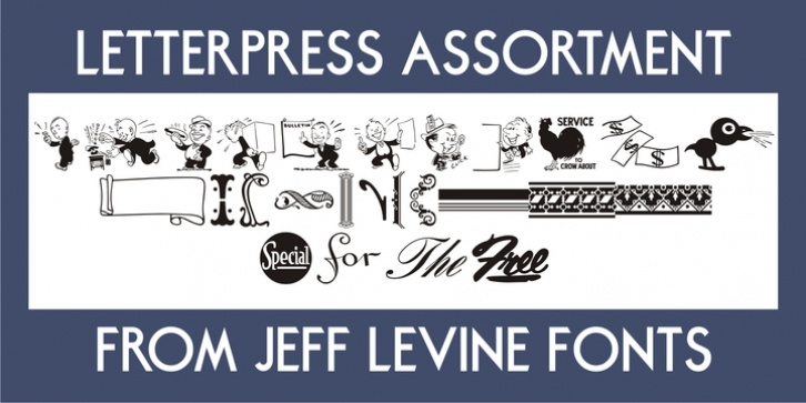 Letterpress Assortment JNL font preview