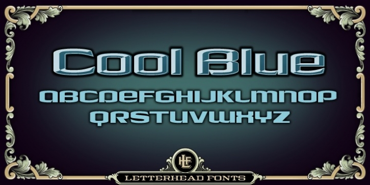 LHF Cool Blue font preview