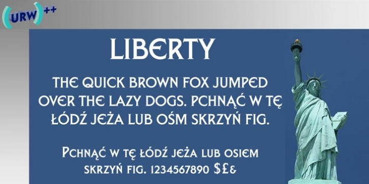 Liberty font preview