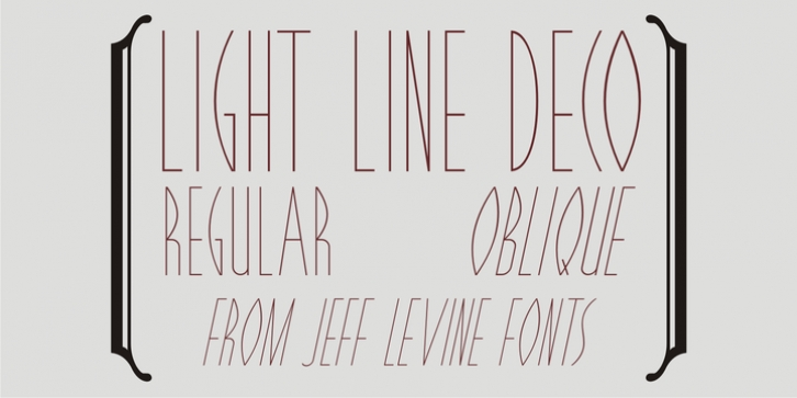 Light Line Deco JNL font preview