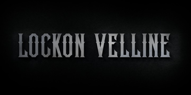 Lockon Velline font preview