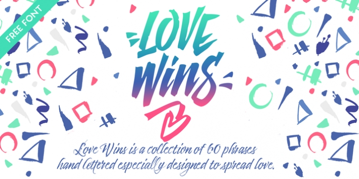 Love Wins font preview