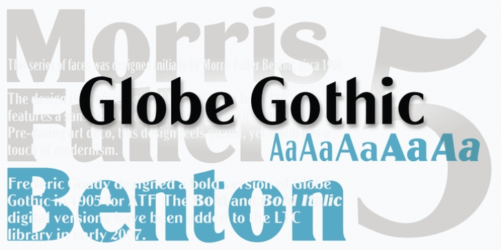 LTC Globe Gothic font preview