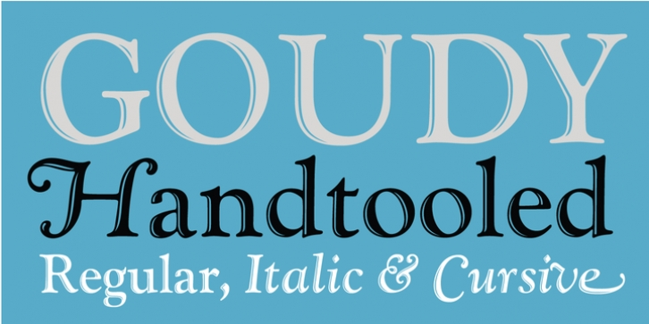 LTC Goudy Handtooled font preview