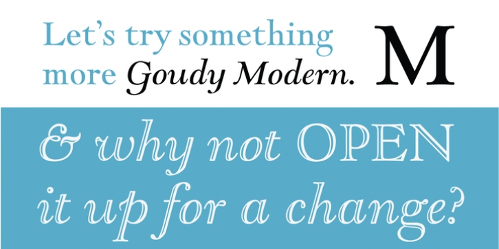LTC Goudy Open font preview