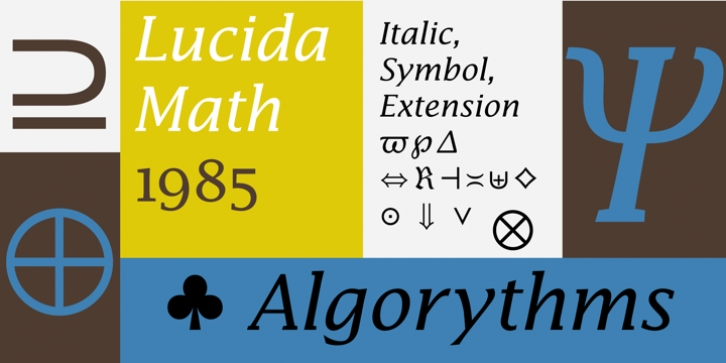 Lucida Math font preview