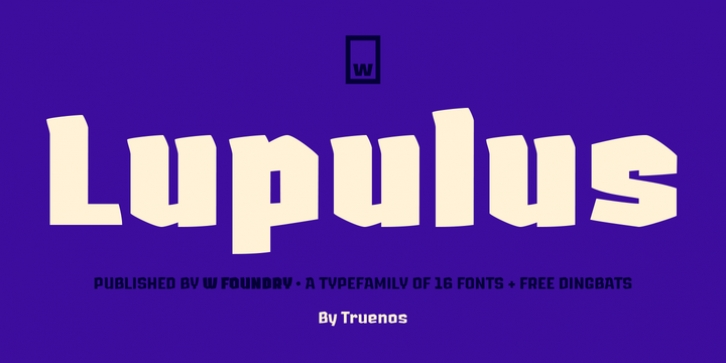 Lupulus font preview