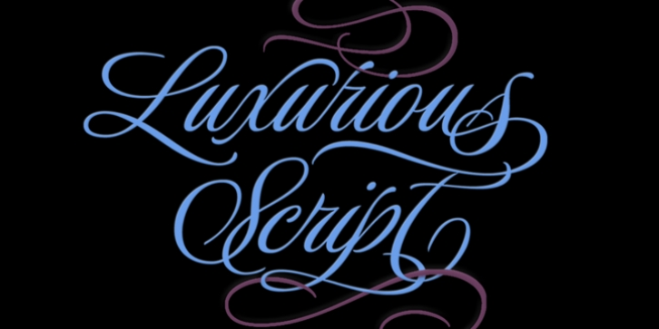 Luxurious font preview