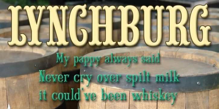 Lynchburg font preview
