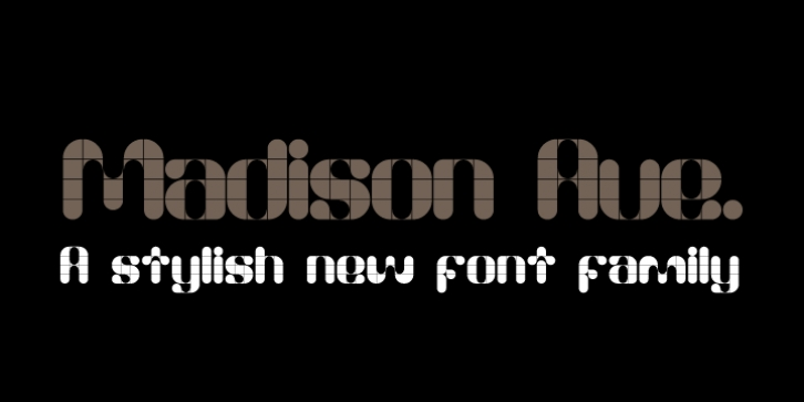 Madison Ave. font preview