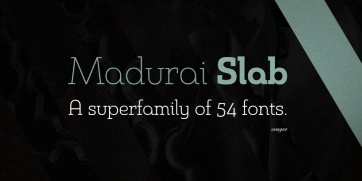 Madurai Slab font preview