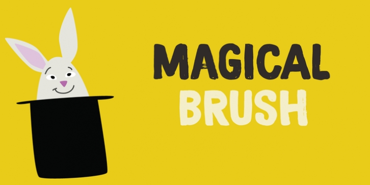 Magical Brush font preview
