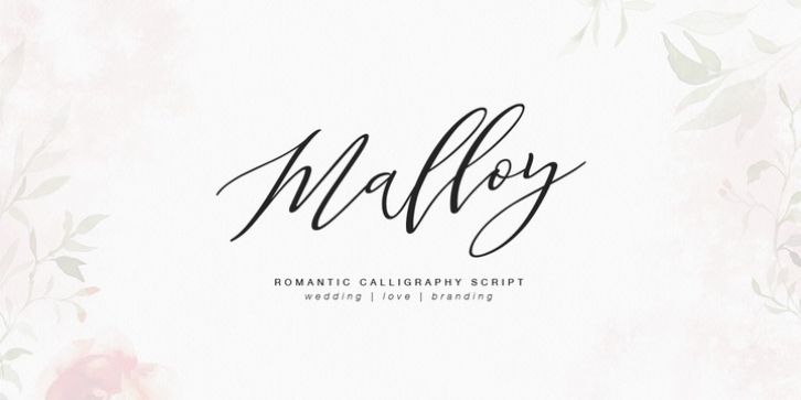 Malloy font preview