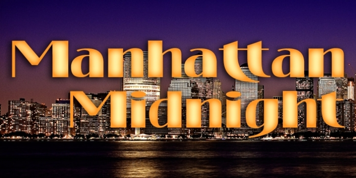 Manhattan Midnight font preview