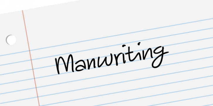 Manwriting font preview