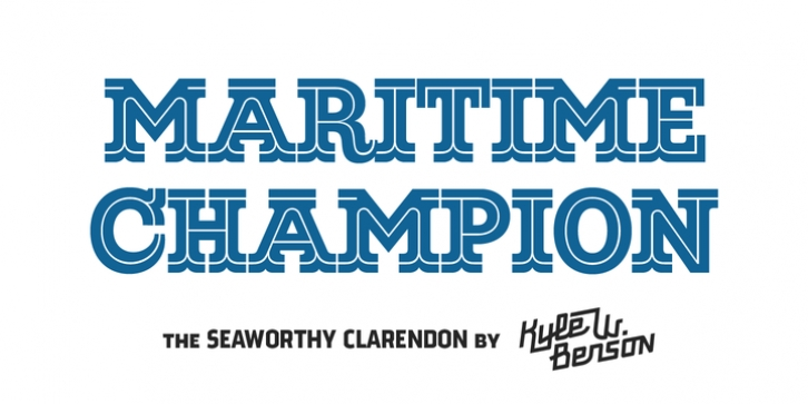 Maritime Champion font preview