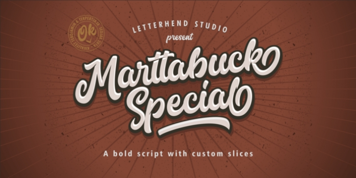 Marttabuck font preview