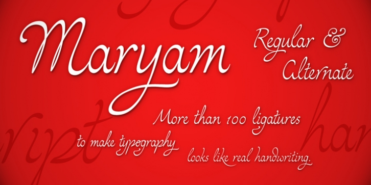 Maryam font preview