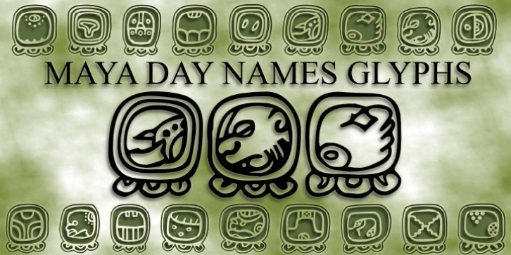 Maya Day Names font preview