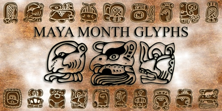 Maya Month Glyphs font preview