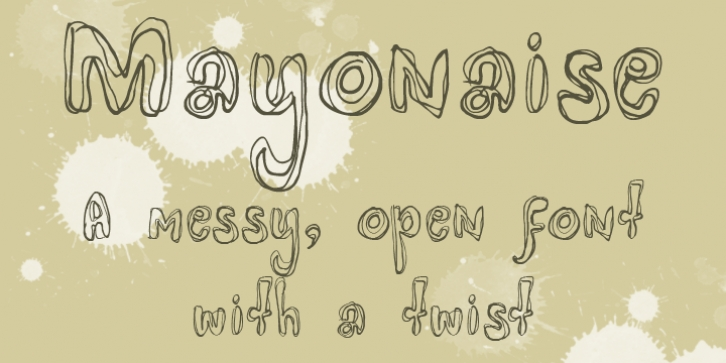 Mayonaise font preview
