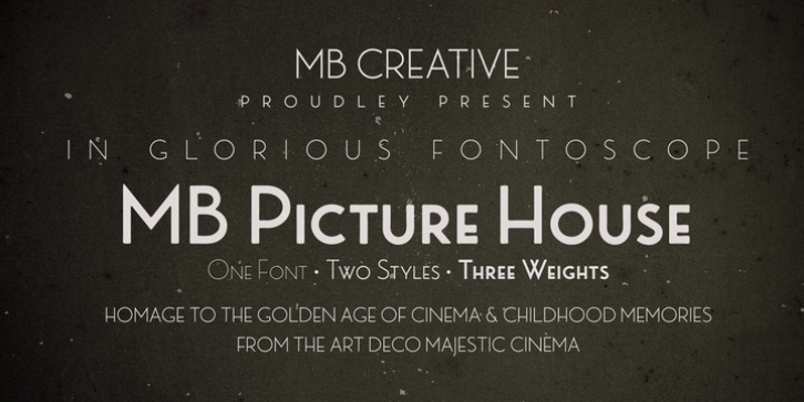 MB Picture House font preview