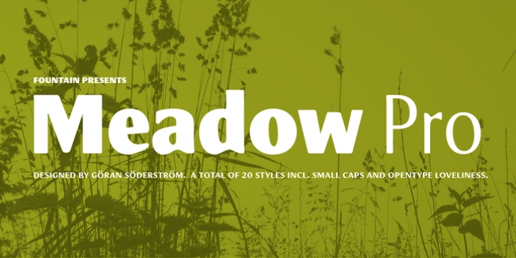 Meadow Pro font preview