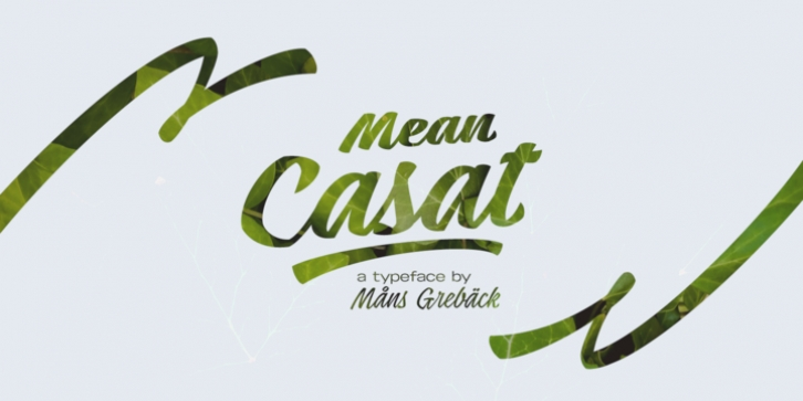 Mean Casat font preview