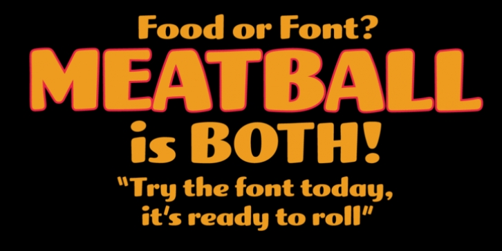 Meatball font preview