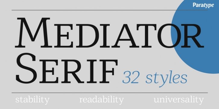 Mediator Serif font preview