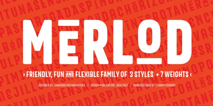Merlod font preview