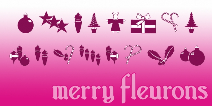 Merry Fleurons font preview