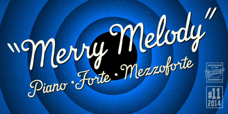 Merry Melody font preview
