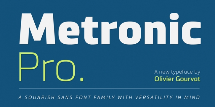 Metronic Pro font preview