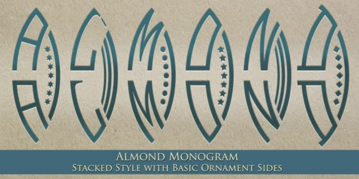 MFC Almond Monogram font preview