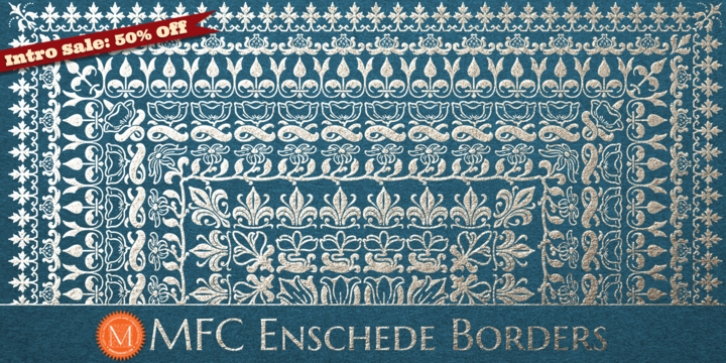 MFC Enschede Borders font preview
