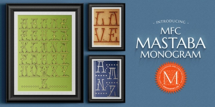MFC Mastaba Monogram font preview