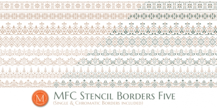 MFC Stencil Borders Five font preview