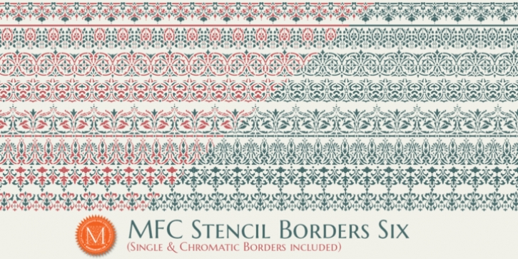 MFC Stencil Borders Six font preview