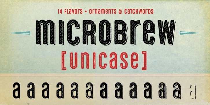 micRobrew unicase font preview