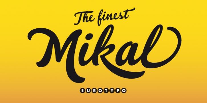 Mikal font preview
