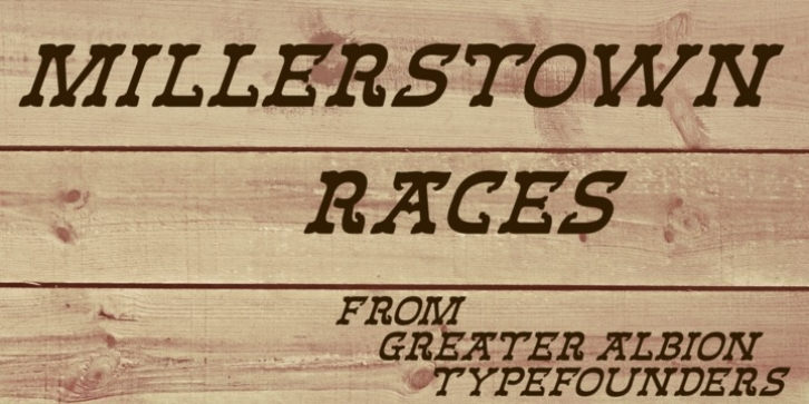 Millerstown Races font preview