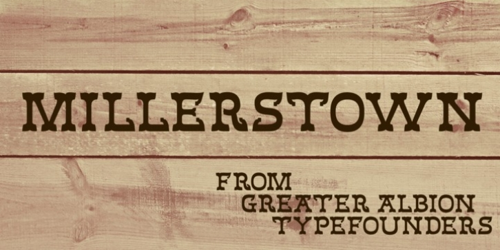 Millerstown font preview