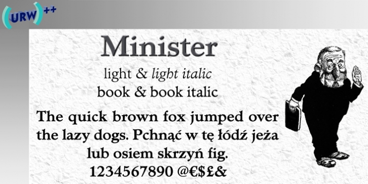 Minister font preview