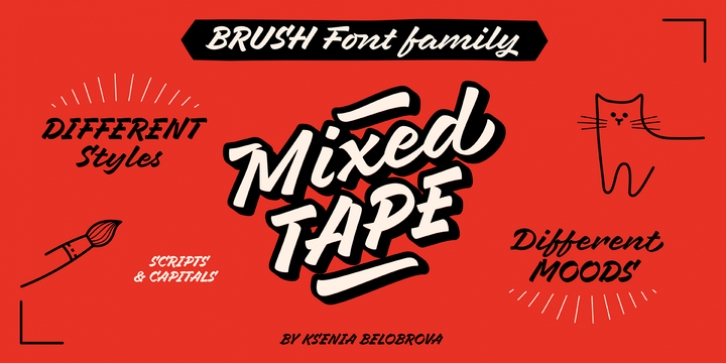 Mixed Tape font preview