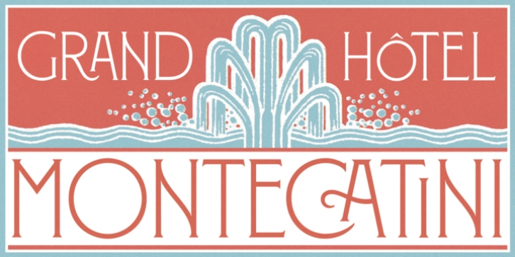 Montecatini font preview