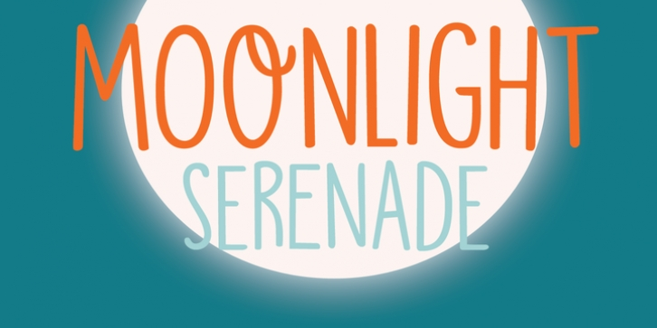 Moonlight Serenade font preview