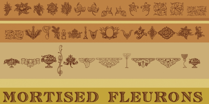 Mortised Fleurons font preview